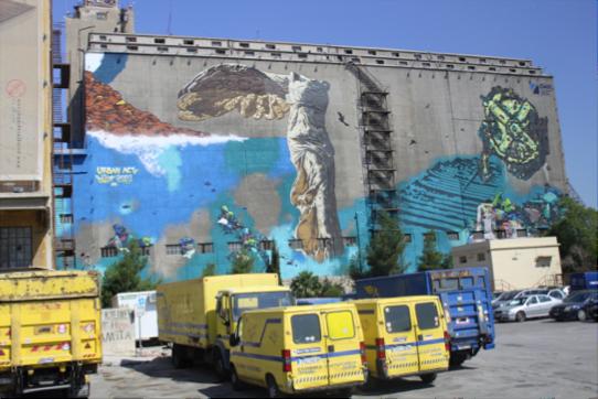 Murals at Port of Piraeus
