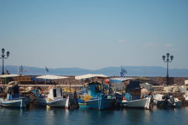 Earlier this year, the small town of Skala Sykamineas saw the arrival of thousands of refugees every day. Now, its residents are hoping for tourists to return (Iris Samuels)