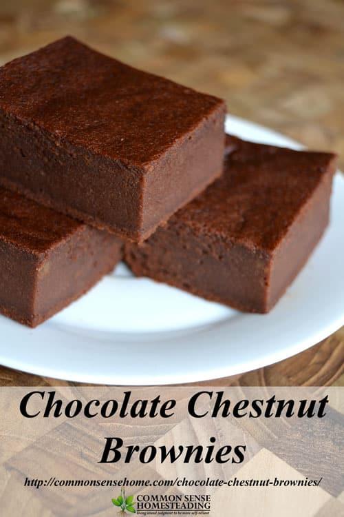 Chocolate Chestnut Brownies Gluten Free And Honey Sweetened
