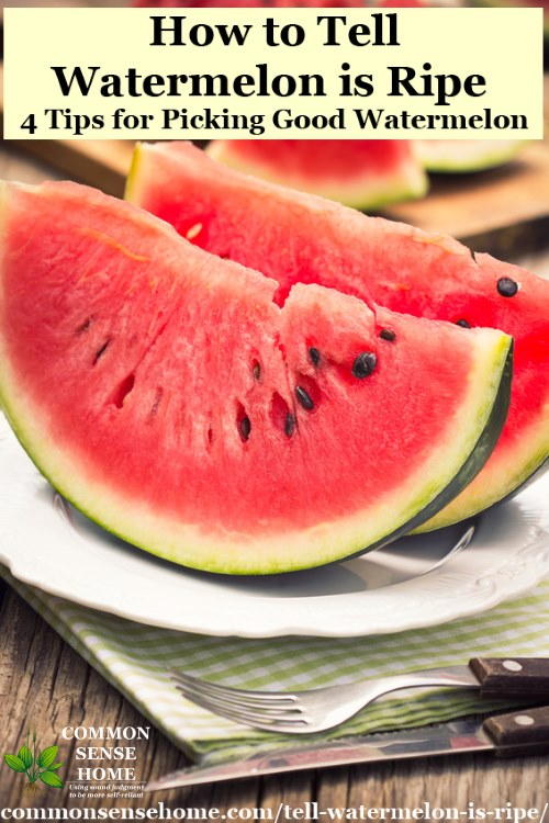 How to Tell if a Watermelon is Ripe - 4 Tips to Pick a Good Watermelon