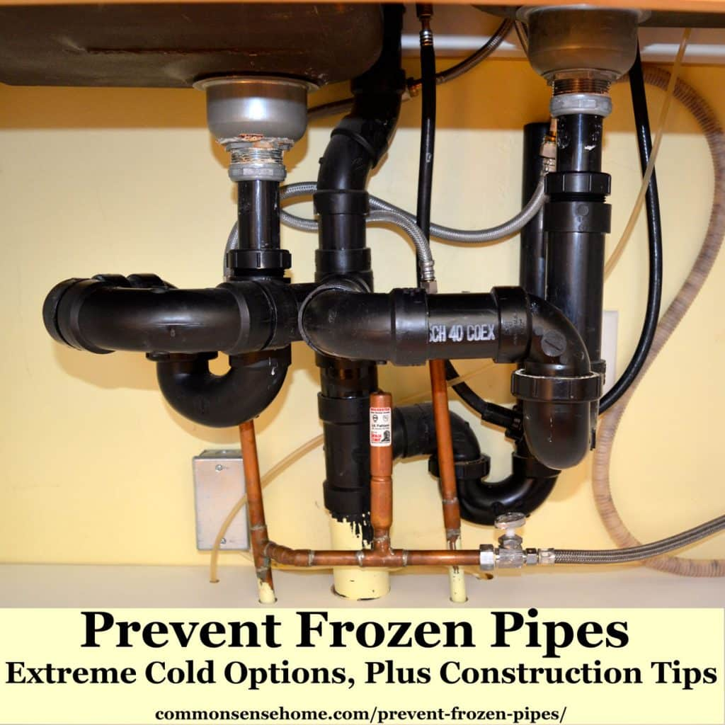 prevent frozen pipes extreme cold