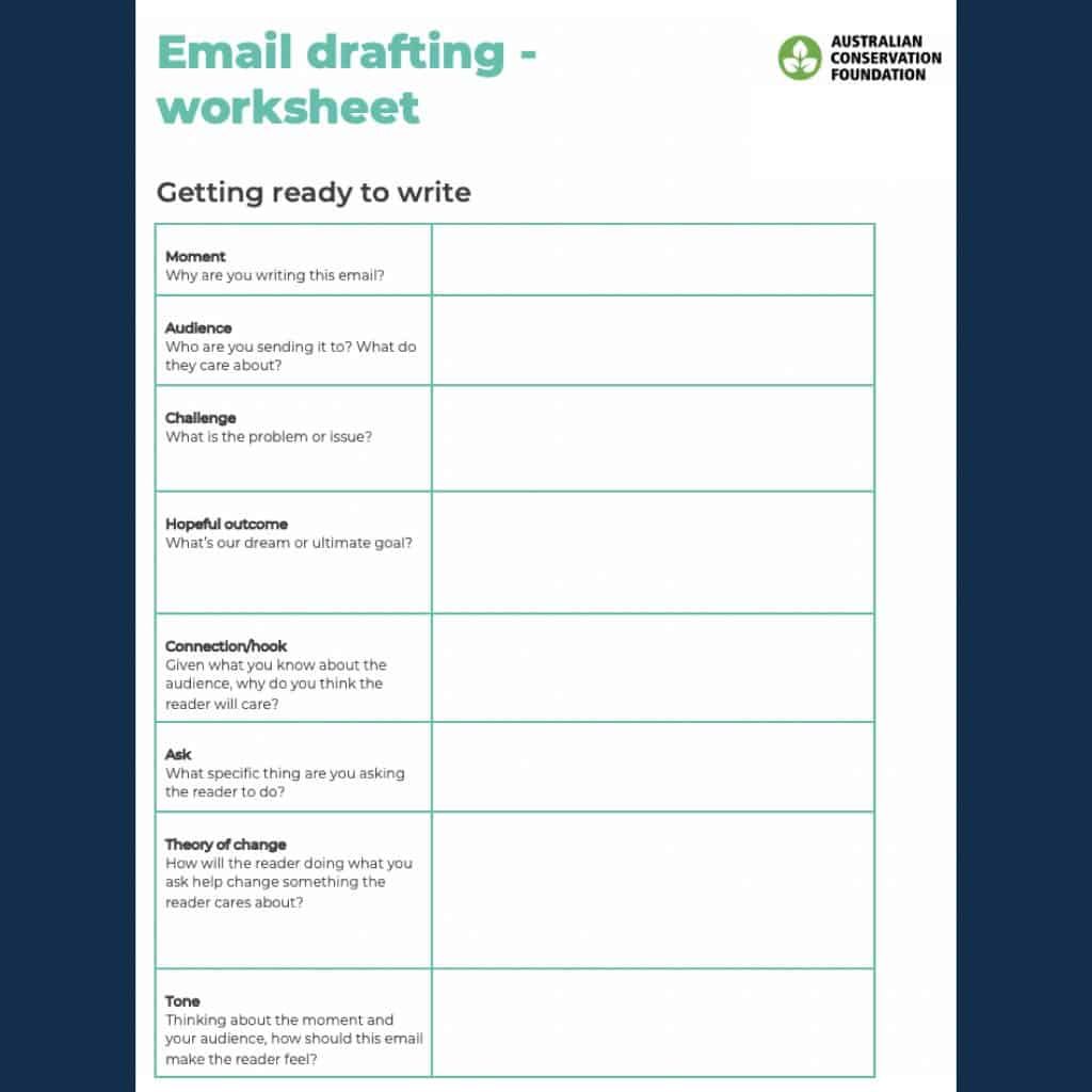 Email Tips And Worksheet When Writing To Or Asking