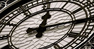 The clock face of Big Ben