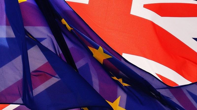 EU flag in front of UK