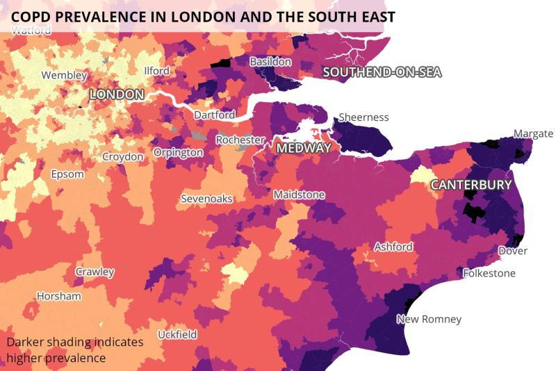 COPD in London and the south east