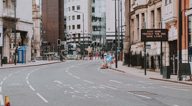 Image shows an empty UK street.