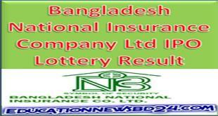 Bangladesh National Insurance Company Ltd IPO Lottery Result