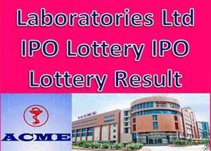 ACME Laboratories Ltd IPO Lottery Result