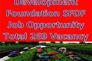 Small Farmer Development Foundation SFDF Job Opportunity