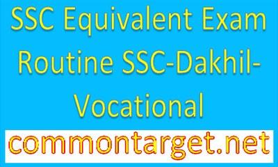 SSC Exam Routine 2017 All Education Board BD