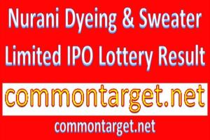 Nurani Dyeing Sweater Limited IPO Lottery Result