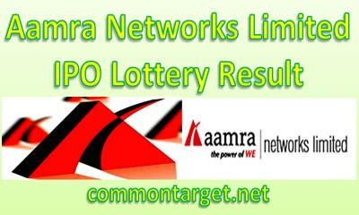 Aamra Networks Limited IPO Lottery Result