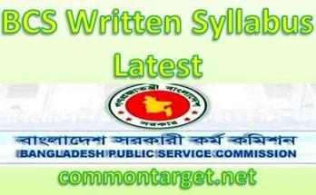 BCS Written Syllabus