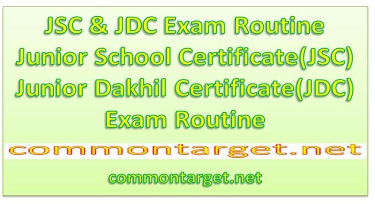 JSC Exam Routine 2020