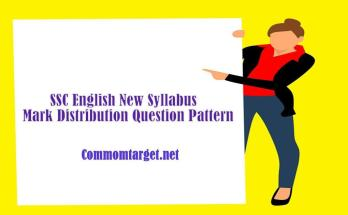 SSC English New Syllabus Mark Distribution Question Pattern 2021