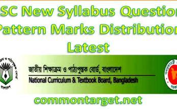 SSC Exam 2021 New Syllabus Mark Distribution 2021
