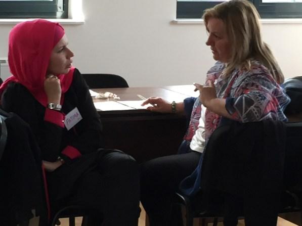 two BiH facilitators discussing