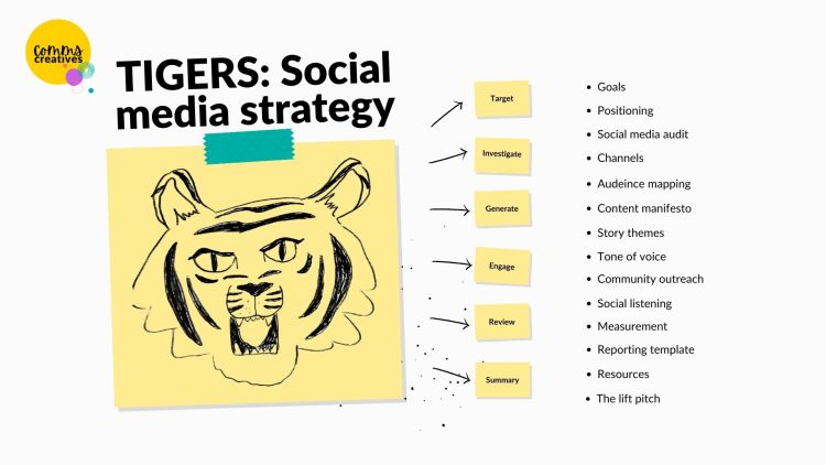 The Tigers social media strategyL Target - Investigate - Generate - Engage - Review - Summarise