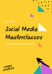 Creative social media training brochure with prices