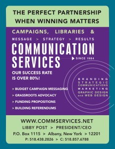 Communication Services provides Library Advocacy Services