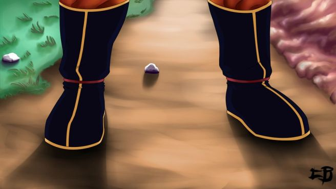 Pieds Son Goku