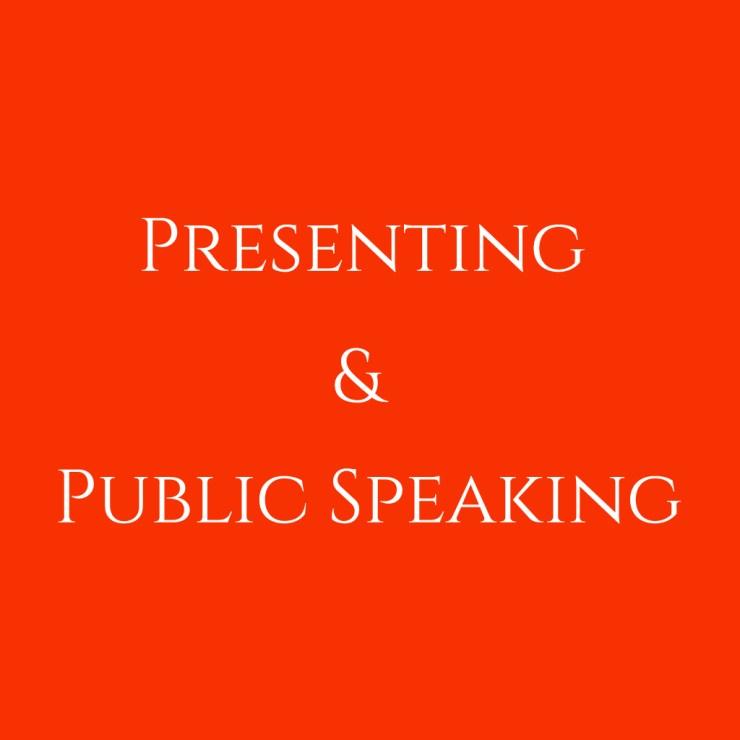 presenting & public speaking