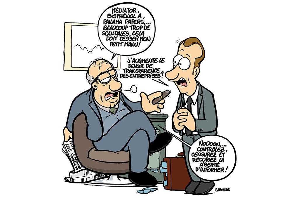 Illustration de Babouse sur le secret des affaires