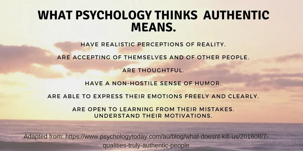 Authentic Psychology