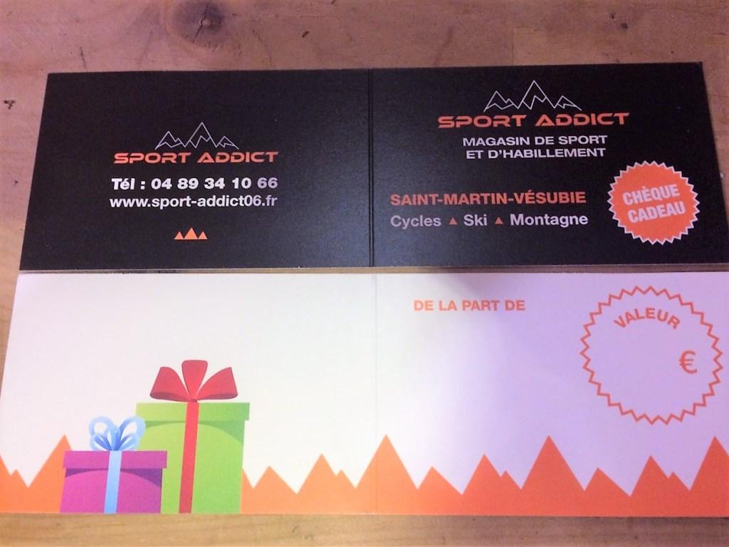 Carte cadeau Sport Addict par Communication Hors-Piste