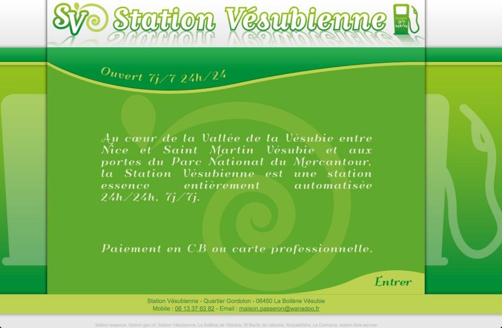 Page Internet Station Vésubienne La Bollène Vésubie
