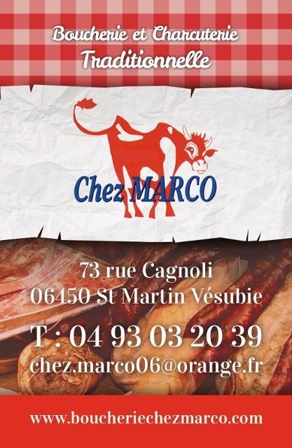 CV Boucherie Chez Marco - Saint Martin Vésubie - Alpes Maritimes