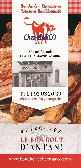 Flyer Boucherie Chez Marco - Saint Martin Vésubie - Alpes Maritimes
