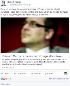 Benoît Hamon post 25/12_2