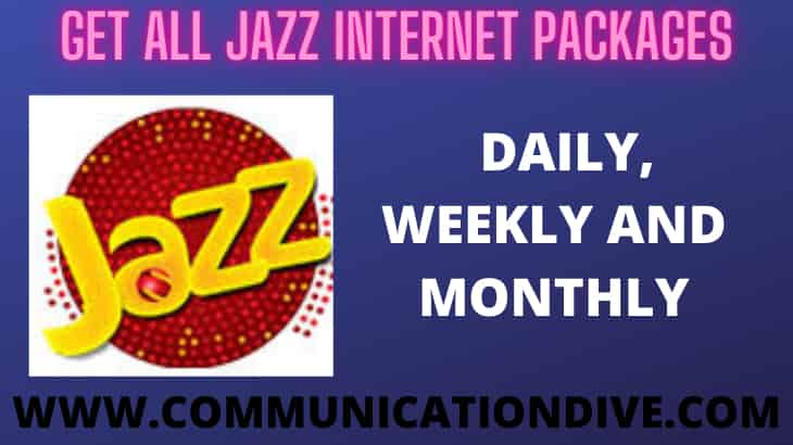 GET ALL JAZZ INTERNET PACKAGES, DAILY, WEEKLY & MONTHLY