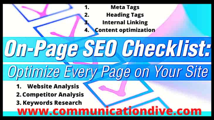 HOW TO DO  ON PAGE SEO OF A WEBSITE :THE BEST METHOD