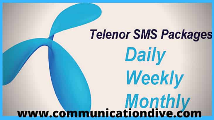 GET ALL TELENOR SMS PACKAGES: DAILY, WEEKLY& MONTHLY