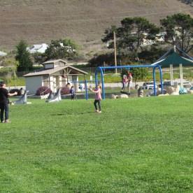 dinosaur-cave-park-throwing-ball