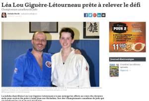 Léa Lou Giguère-Létourneau, Judokate de haut niveau