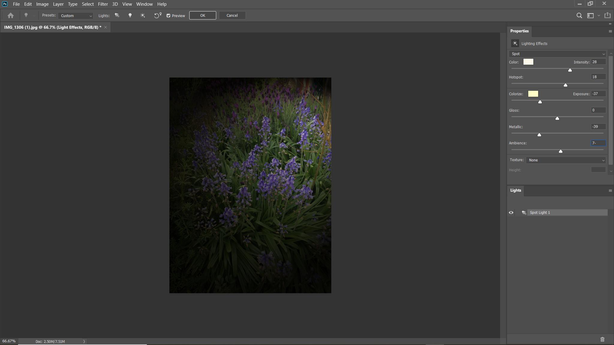render lighting effects not working