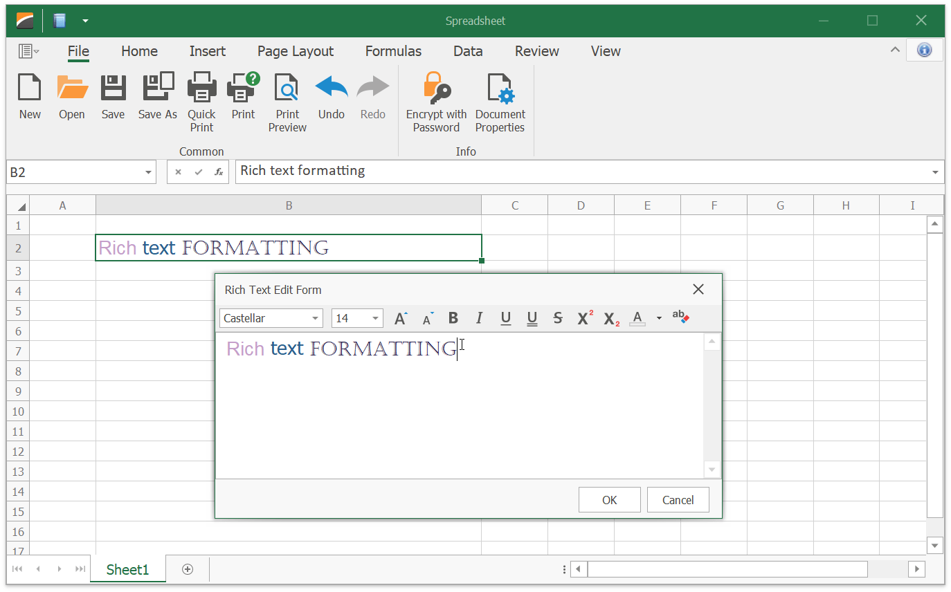 Winforms Spreadsheet How To Create A Rich Text Editor