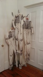Skeleton costumes for the Sacred and the Profane performance