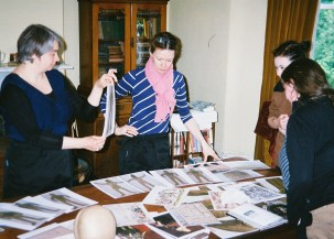 Workshop to develop skeleton costumes.