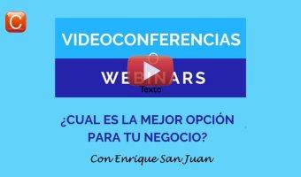 VIdeoconferencias o webinars con enrique san juan