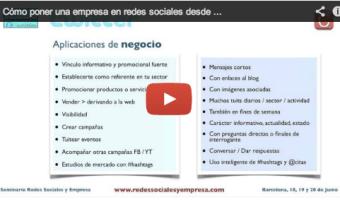 Video del webinar Como poner a tu empresa en redes sociales desde cero con enrique san juan community internet barcelona