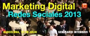 seminario marketing digital para redes sociales Barcelona 2013 community internet