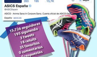 infografia asics espana twitter community internet the social media company