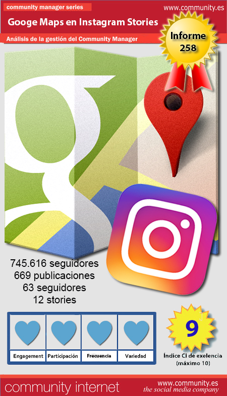 infografia google maps Instagram Stories Community Internet