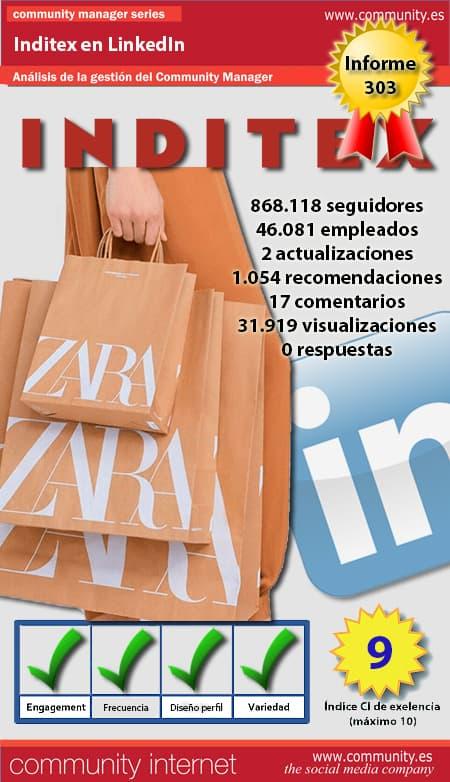 infografia inditex Linkedin community internet the social media company community management