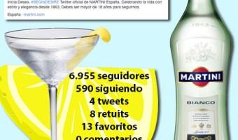 Martini involucra al usuario en Twitter