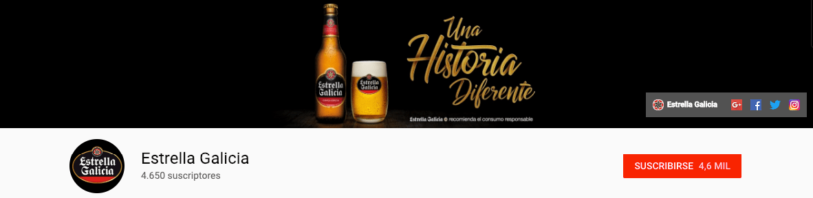 portada youtube analisis estrella galicia community internet